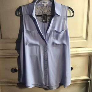 Sleeveless collared blouse lavender NWT Express